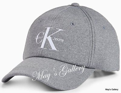 240130b6275 CK Calvin Klein BaseBall Cap Ball Hat Military NWT One Size C.K. Gray cotton