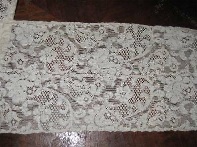 """antique 5"""" Wide FRENCH Alencon LACE TRIM unused BEAUTIFUL Ivory priced per yard"""