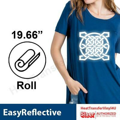 "Siser EasyReflective Iron On Heat Transfer Vinyl (20"" Width) **FREE SHIPPING**"