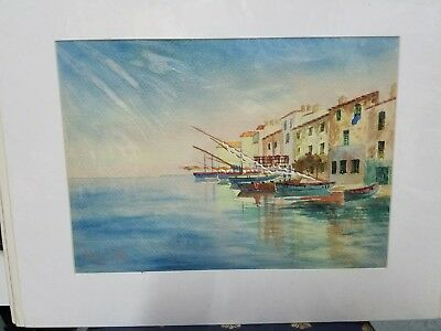 Original early 20th century/19th century watercolor painting.  Signed lower left