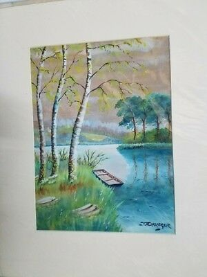 Original early 20th century/19th century watercolor painting.  Signed lower rt