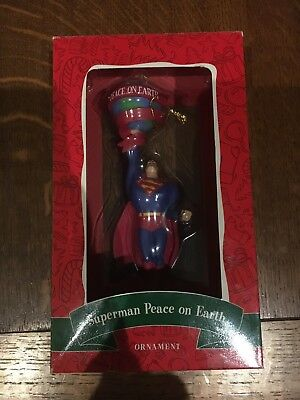 Christmas Ornament Superman Peace on Earth- Warner Bros Studio Store NIB 2000