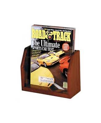 Countertop Single Pocket Oak Magazine Display Stand [ID 373512]