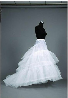 White Wedding Bridal Train Hoop Crinoline Petticoat Slip Underskirt