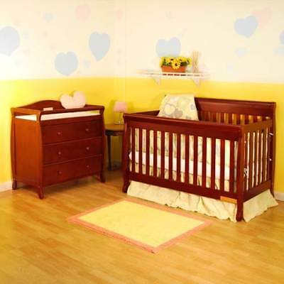 Athena Alice Solid Wood 3-in-1 Crib & Athena Grace I 3 Drawer Tab [ID 27976]