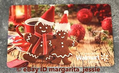 "Walmart Canada 2017 Gift Card ""Gingerbread Man & Woman"" No Value Christmas New"