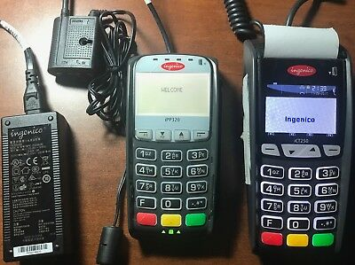 Ingenico ICT250 EMV + iPP320 pinpad use with high speed internet and phone line