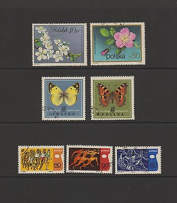 Poland - 7 colourful stamps  ( Lot 26 )