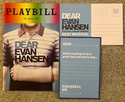 Dear Evan Hansen Pride Package *Playbill* and *DEH post card* - *Free shipping*