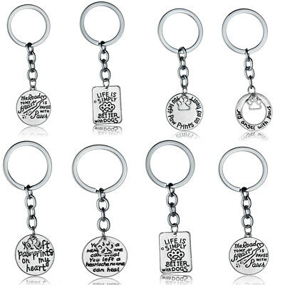 Keychain Dog Cat Pet Pendant Charm Chain Necklace Memory Pet Lover Keyring Gifts