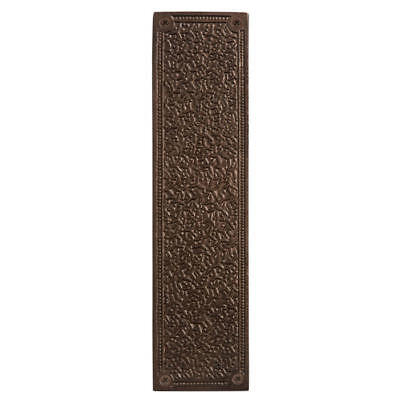 Signature Hardware Rice Pattern Bronze Push Plate in Bronze Patina