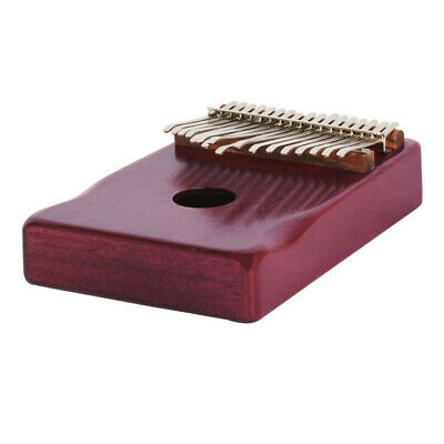 17 Notes Kalimba Thumb Piano for Kids Music Educational Toys Craft Dark Red