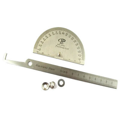 Hot Stainless Steel 180 degree Protractor Angle Finder Rotary Measuring Ruler