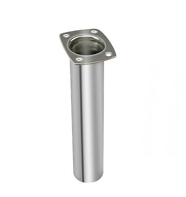 Boat Stainless Steel Fishing Rod Holder Flush Mount Polished 90° Narrow Top