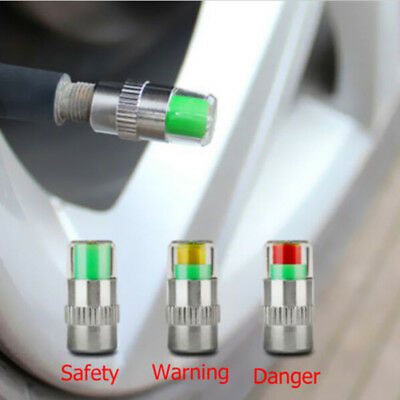 4pcs Auto Car Tire Pressure Monitor Valve Warning Cap Sensor Indicator Alert HME