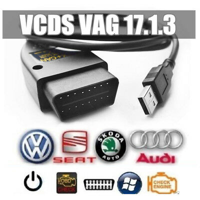Interface Valise diagnostic VW HEX+CAN COM OBDII USB VAG 17.1.3 Full Command M2