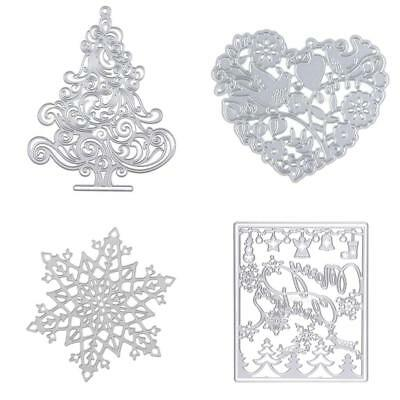 4pcs Home Metal Cutting Dies Stencils DIY Scrapbooking Embossing Card Crafts