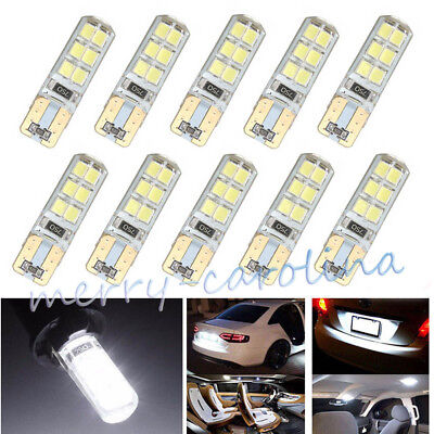 1x T10 COB 2835 SMD 12LEDs Car CANBUS Silicone Dome License LED Trunk Light Bulb