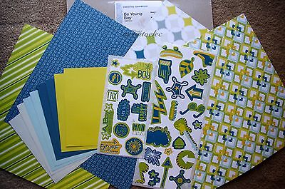 Creative Memories 12x12 Be Young Additions Kit Boy Guitar Explore Son Grandson