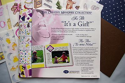 Creative Memories It's a Girl Snap Pack Pink Baby daughter Princess - Latest Ver