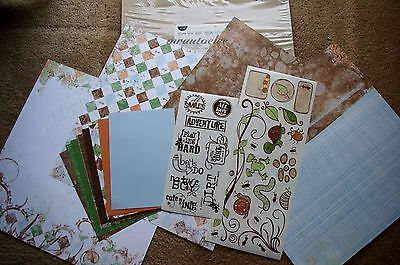 Creative Memories 12x12 Discover Cute as a Bug Additions Kit Boys Son Play Smile