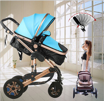 4 in 1 Fashion Foldable Newborn Carriage Travel Pram Baby Stroller Pushchair
