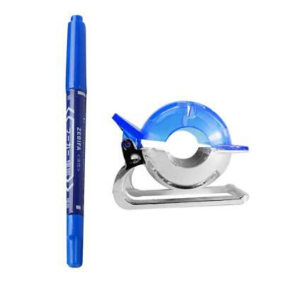 Golf Ball Liner Marker Clip Line Drawing Alignment Tool with Pen - Blue