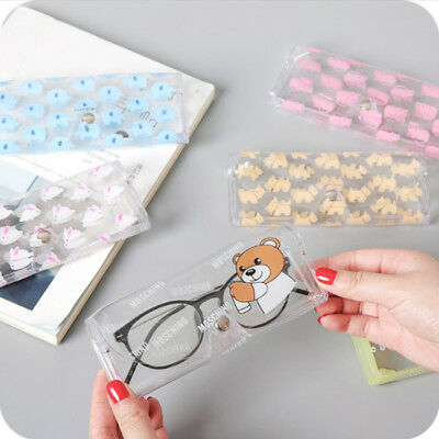 Portable Cartoon Clear Soft Sunglasses Case Eye Glasses Eyewear Protective Box