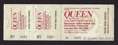 Queen  :  Cancelled Concert Complete Ticket - Manchester United 1982 Hot Space