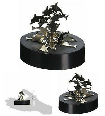 Magnetic Art Sculpture Dolphins Stainless Steel Classic Desk Toy Decoration