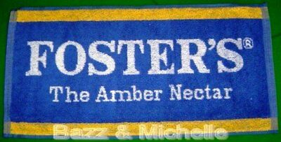 Fosters Lager Beer Runner Bar Towel The Amber Nectar Genuine New - Free Postage