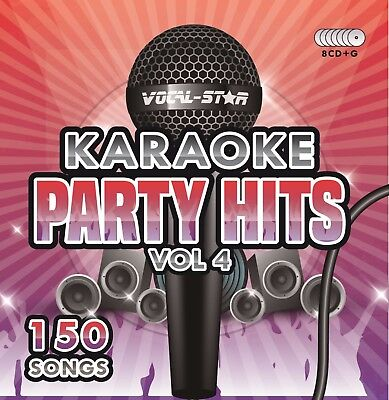 Vocal-Star Party Hits 4 Karaoke Cdg Cd+G Disc Set 150 Songs