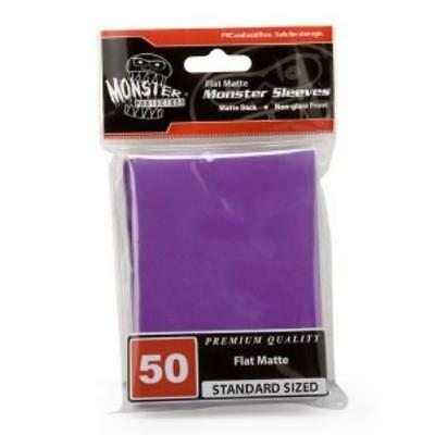 Monster Protector Card Sleeves Standard CCG Size - Purple (10 Packs of 50 MINT