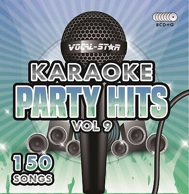Vocal-Star Party Hits 9 Karaoke Cdg Cd+G Disc Set 150 Songs