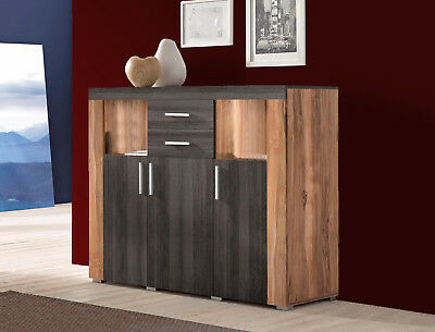 highboard nussbaum anrichte kommode wohnzimmerschrank vitrine schrank esszimmer picclick de. Black Bedroom Furniture Sets. Home Design Ideas