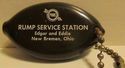 Pure Gas Station Promo Coin Holder Key Fob Rump Service Station New Breman Ohio