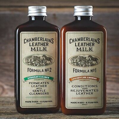 Chamberlain's Leather Care Liniment No 1 and Straight Cleaner No 2 Combo Set