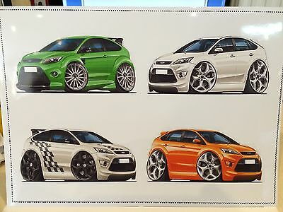 A4 Limited Print Of 4 FORD FOCUS INC ST AND RS MODELS