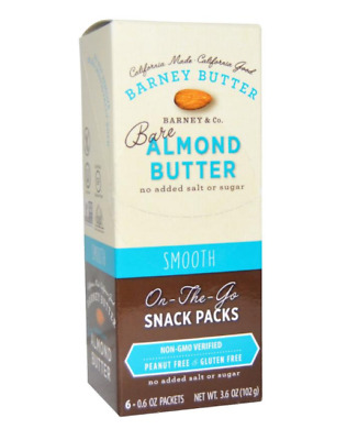 New Barney Butter Almond Bare Smooth Vegan Gluten Free Health Food Daily Care