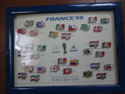 FIFA World Cup France 1998 Pin Badge Set 32 Countries Good Condition Rare