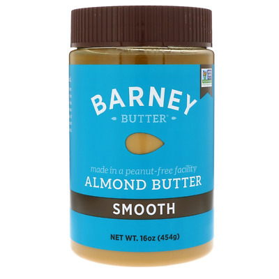 New Barney Butter Almond Smooth Vegan Peanut & Gluten Free Daily Healthy Foods