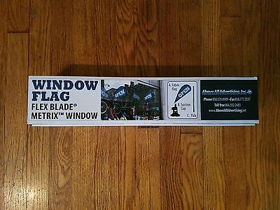 "NEW Metrix Window Flag Flex Blade ""OPEN"" Above All Advertising SEALED"