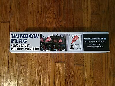 "NEW Metrix Window Flag Flex Blade ""CLEARANCE"" Above All Advertising SEALED"
