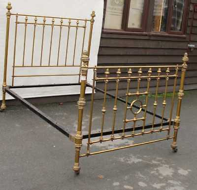 Decorative 1900's Brass and Iron Bed Stead . Double. CHECK SIZE