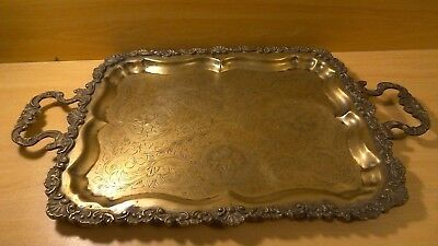 Antique Butlers tray. Silver plate.
