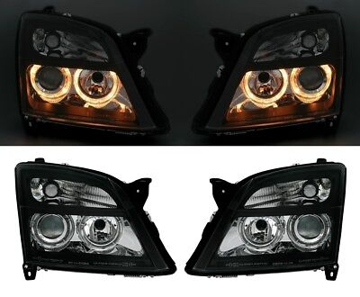 ANGEL EYES HEADLIGHTS LAMPS LHD RHD for OPEL VECTRA C + SIGNUM 02-05 BLACK