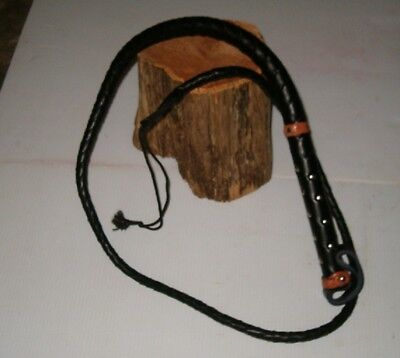 Brand New  Hand Made 5' Leather Bull Whip ,horse Whip, Cattle Whip, Etc.