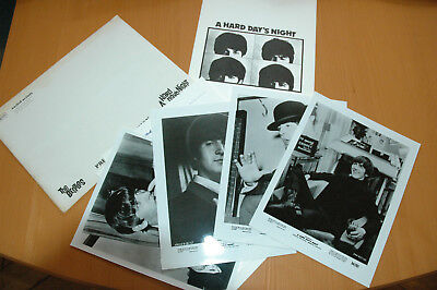 The Beatles A Hard Day's Night 1964 Presskit With 4 Stills R80