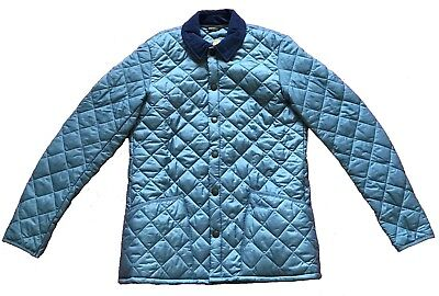 BNWT Barbour Men's Liddesdale Quilted Jacket Light Blue M GUARANTEED ORIGINAL