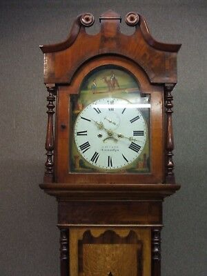 Carmarthen  / Antique / Welsh  Grandfather  Clock By David.tucker Nott Square